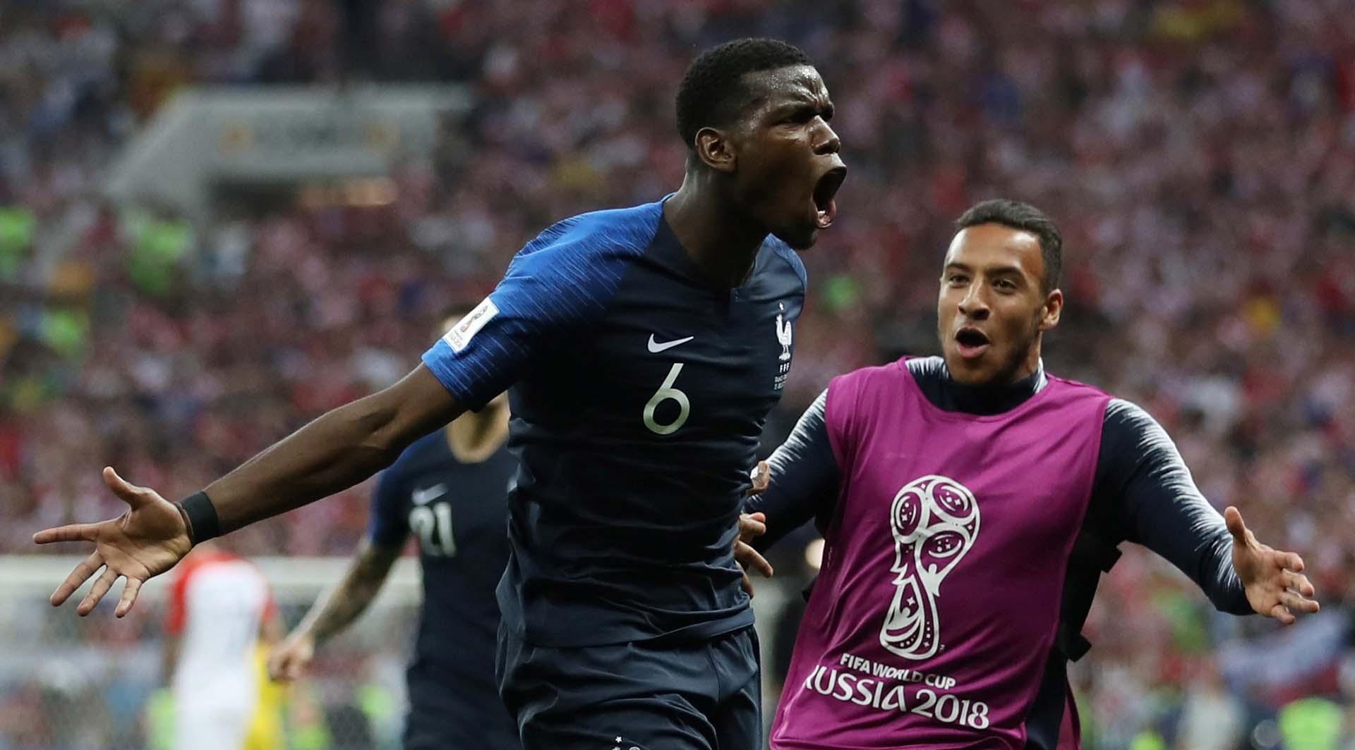 Pogba hizo el tercer gol de Francia