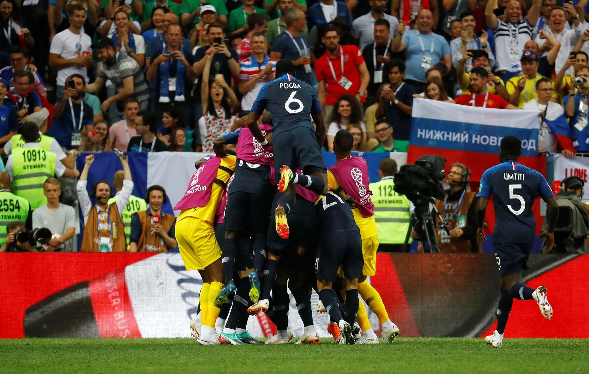 La celebración ante los fanáticos