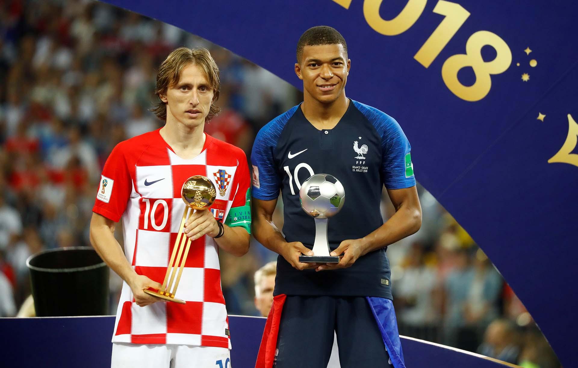 Modric, mejor jugador del Mundial, y Mbappé, mejor jugador joven