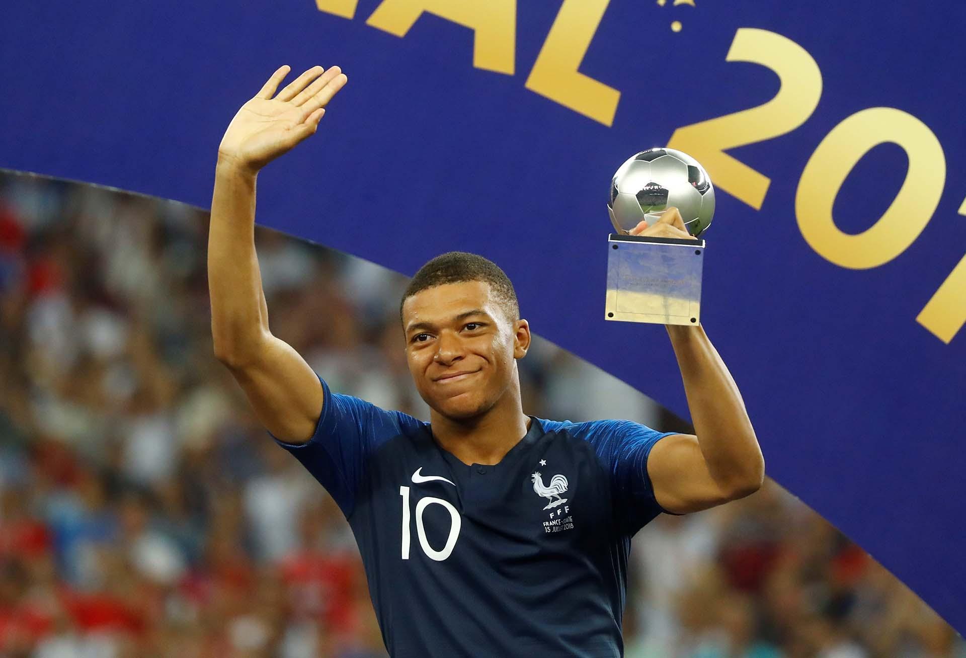 Mbappé, mejor jugador joven del Mundial de Rusia 2018