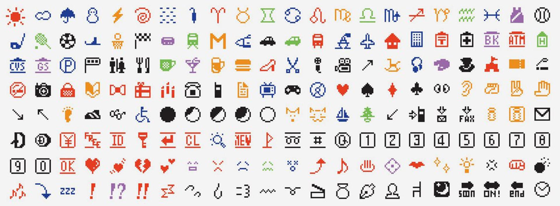 Éstos son los primeros emojis creados