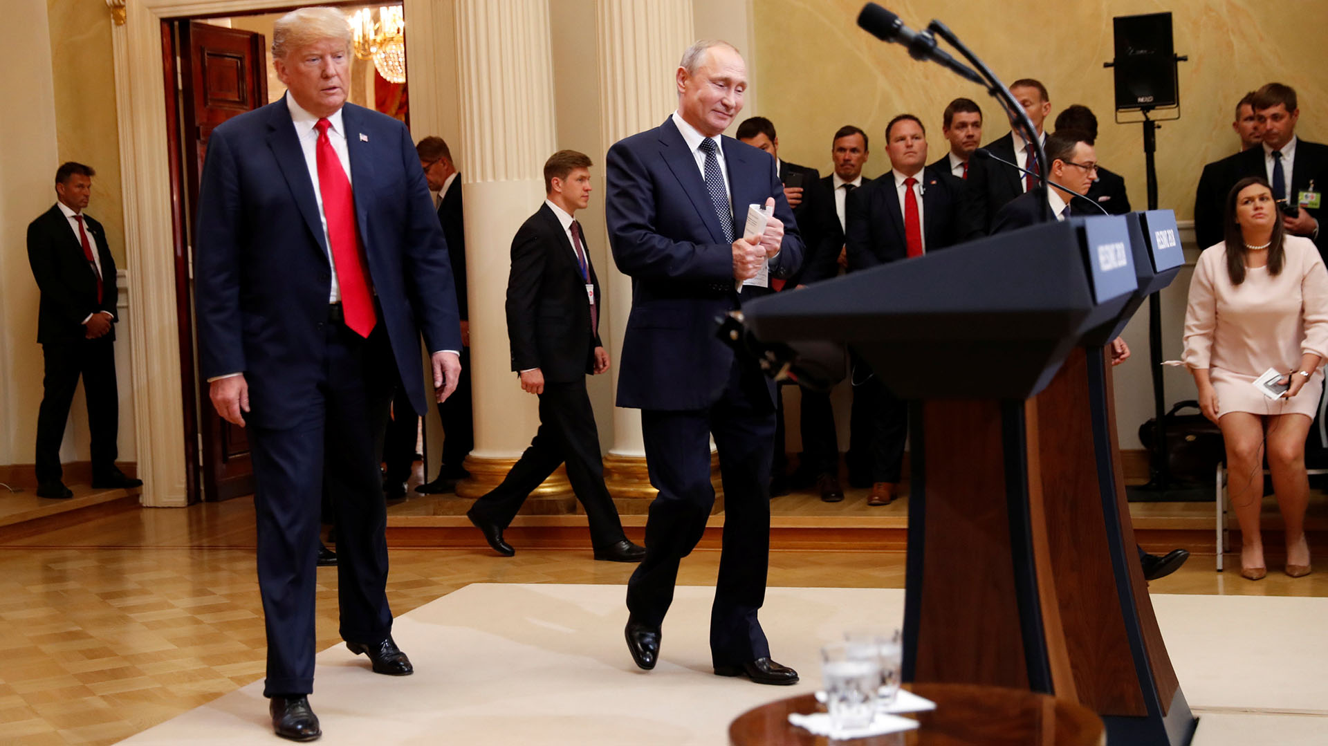 Entre el retraso de Putin y la prolongada reunión en privado, la conferencia empezó con más de una hora de demora