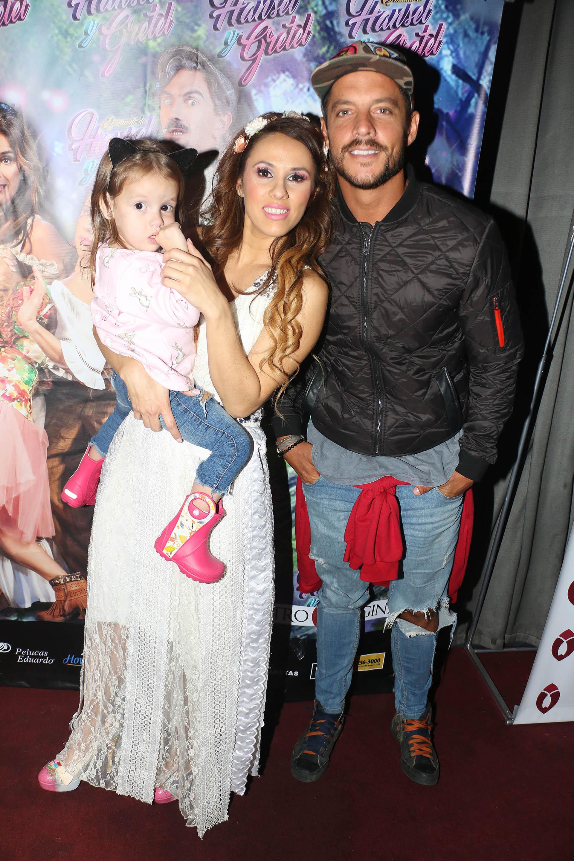 Francisco Delgado llevó a su hija Helena para que viera el espectáculo de su ex pareja