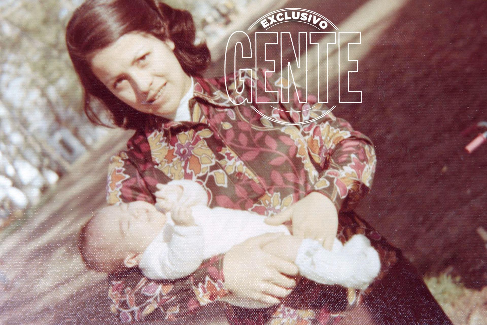 La mamá de Pity a días del nacimiento de su primogénito, el 28 de junio de 1972.
