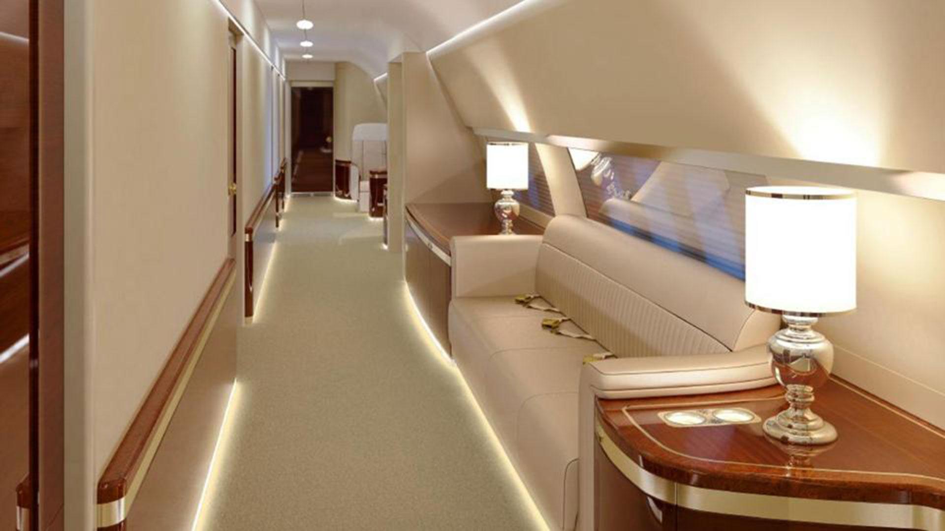 El amplio fuselaje de la aeronave posibilita pasillos tan anchos(Foto: CEN)
