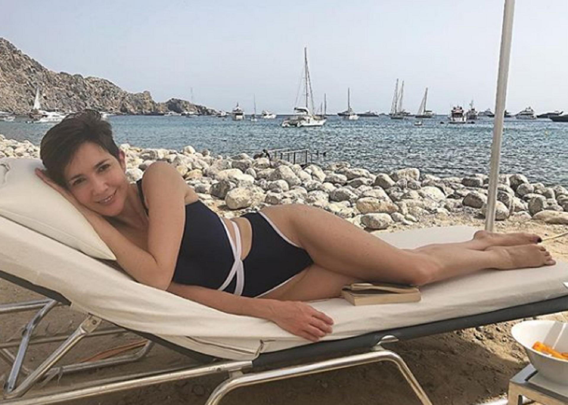 La conductora y periodista Cristina Pérez está disfrutando de unas vacaciones en las playas de Ibiza (Instagram)