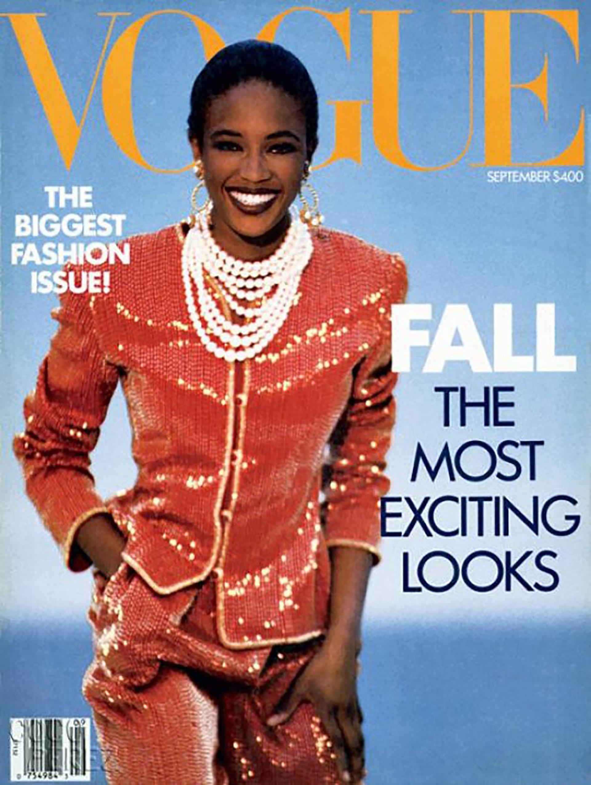 Tapa de Vogue 1989 con Naomi Campbell como estrella de la edición