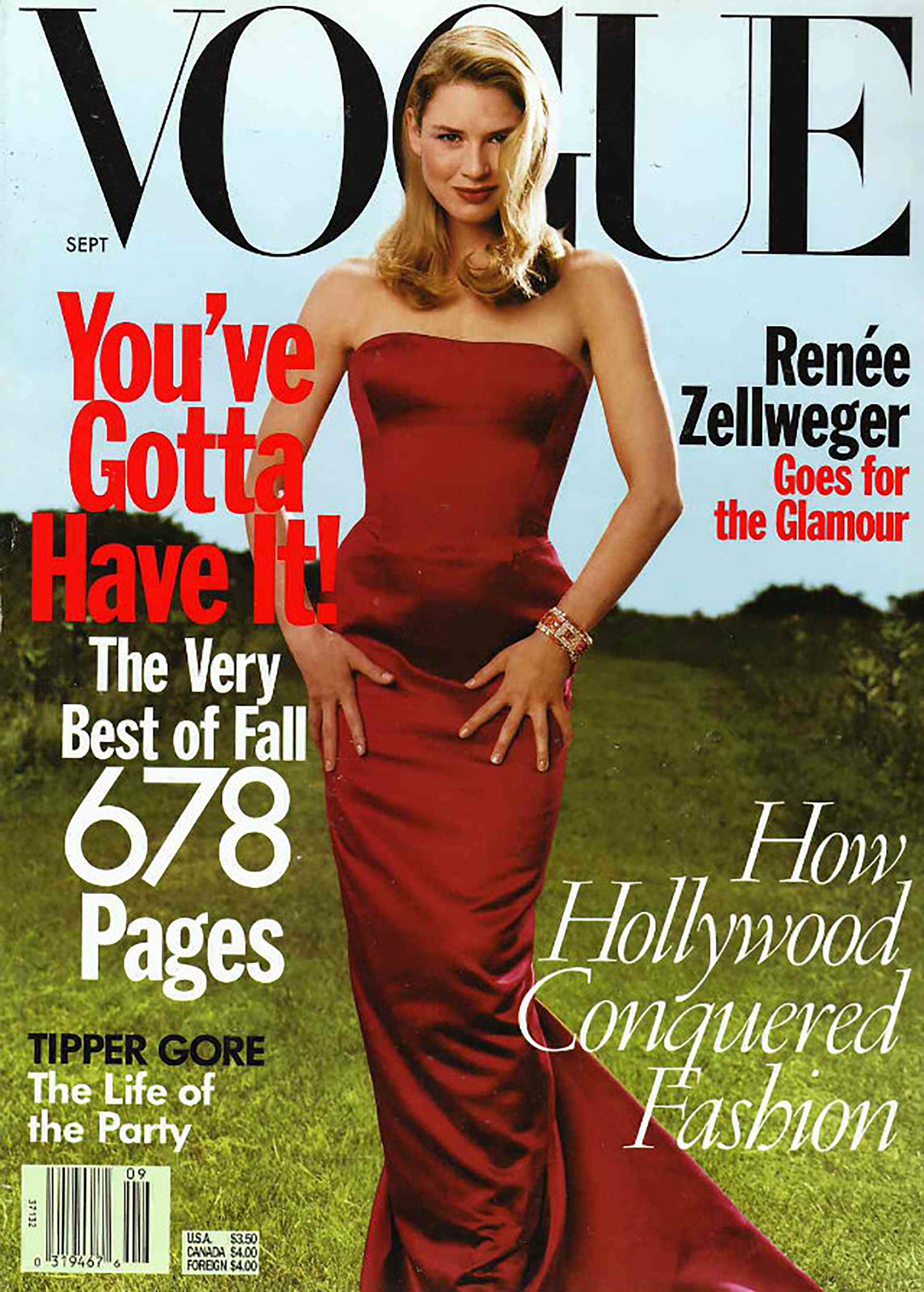 En 1998 Renée Zellweger fue la primera figura de Hollywood en protagonizar la clásica portada de inicio de temporada, una edición quemarcó nuevos rumbos
