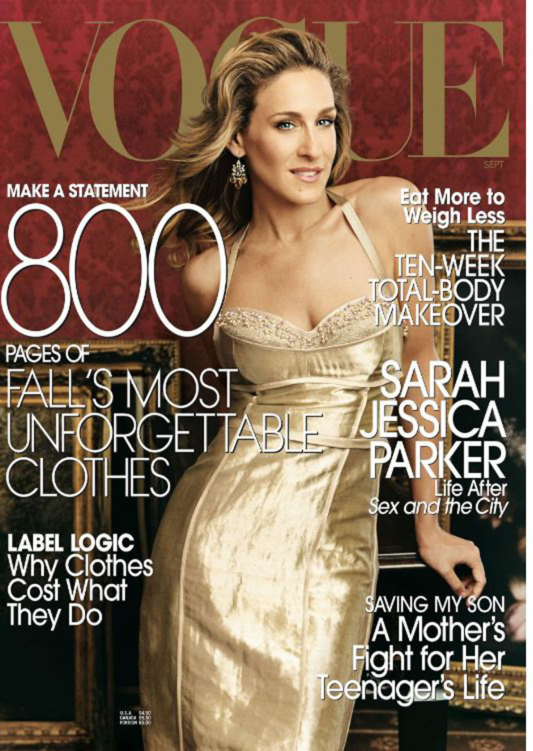 Sarah-Jessica Parker posó paraHerb Ritts en septiembre de 2002