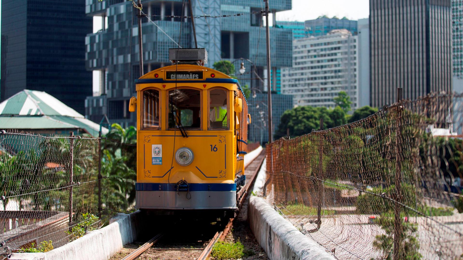 El tranvía Lapa, una de las postales por excelencia de Río de Janeiro