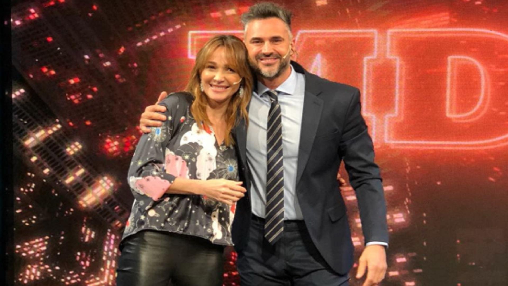 """Veronica Lozano y Leo Montero, con quien compartió 10 años el programa """"AM"""""""