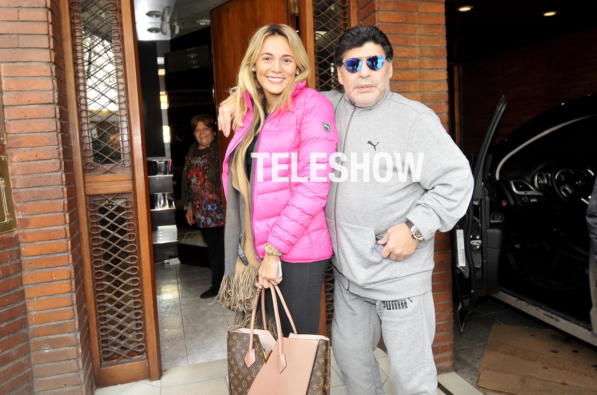 Diego Maradona y Rocío Oliva están de vacaciones en el país (Crédito: Teleshow)