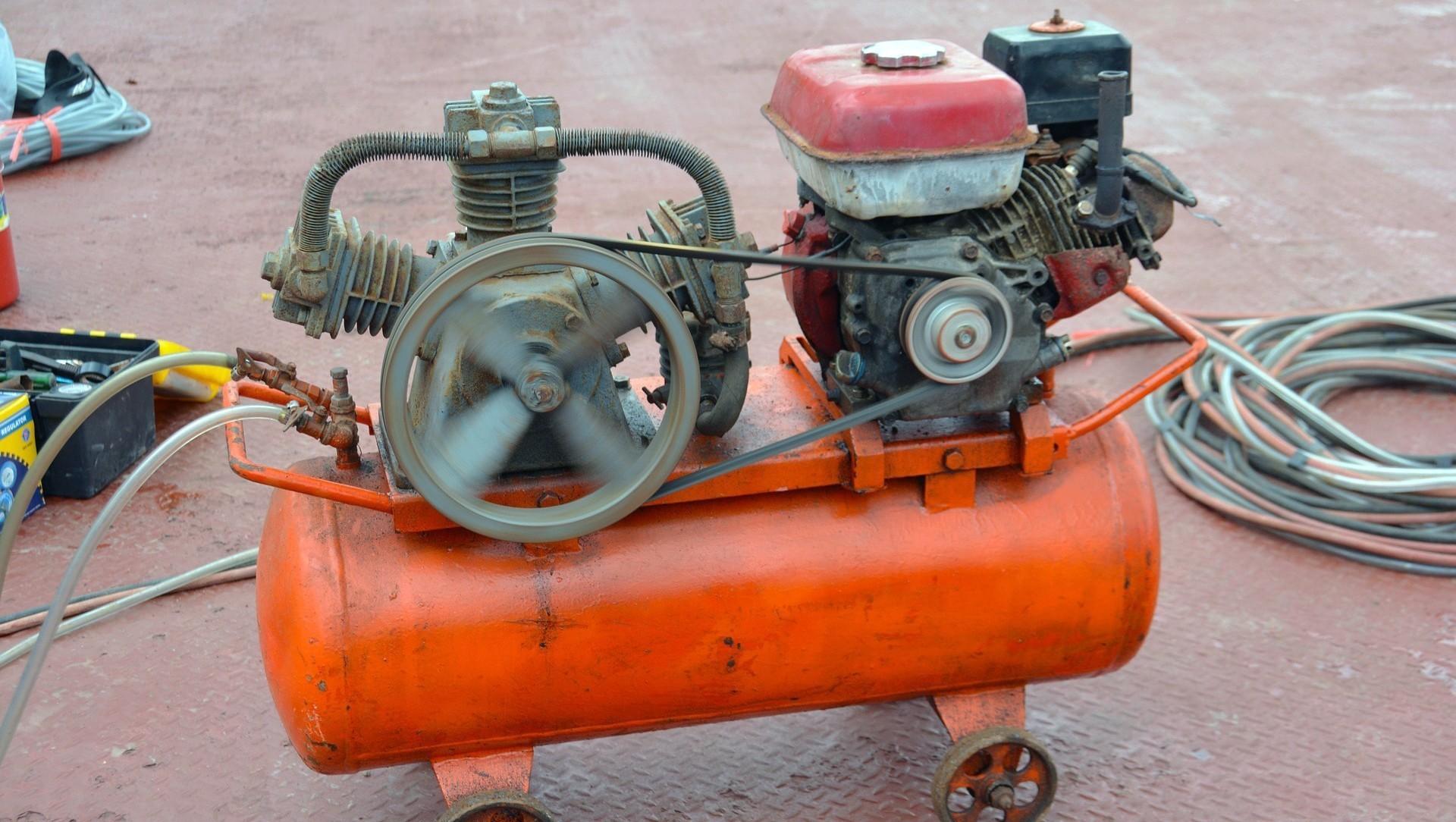 Un compresor de aire como el que fue utilizado en la broma mortal