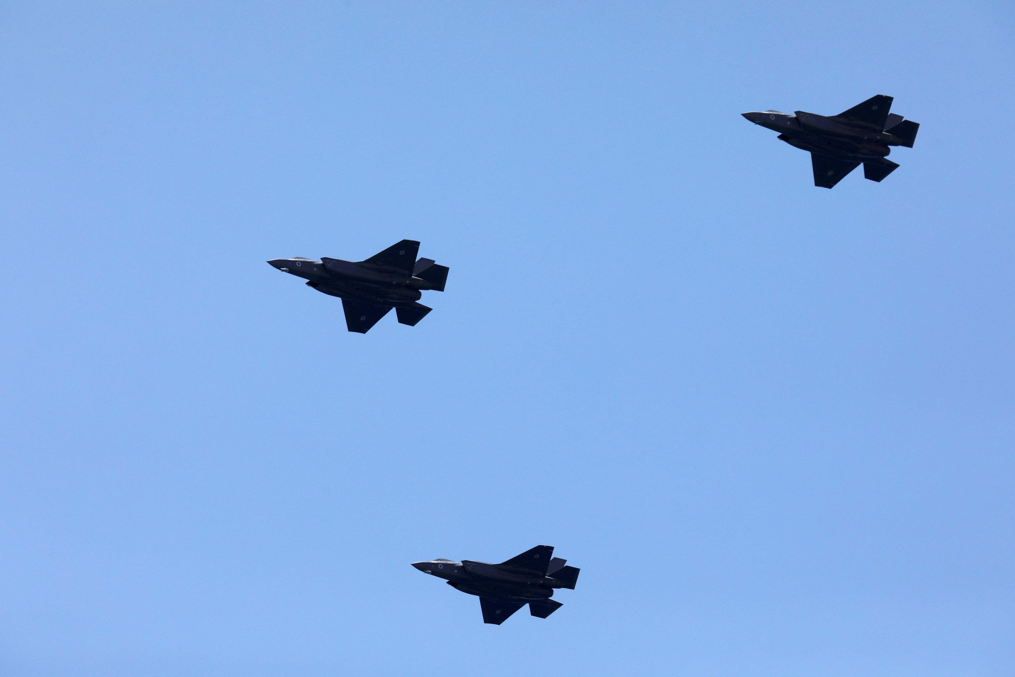 AvionesF-35 de las fuerzas israelís. (REUTERS/Amir Cohen/File Photo)