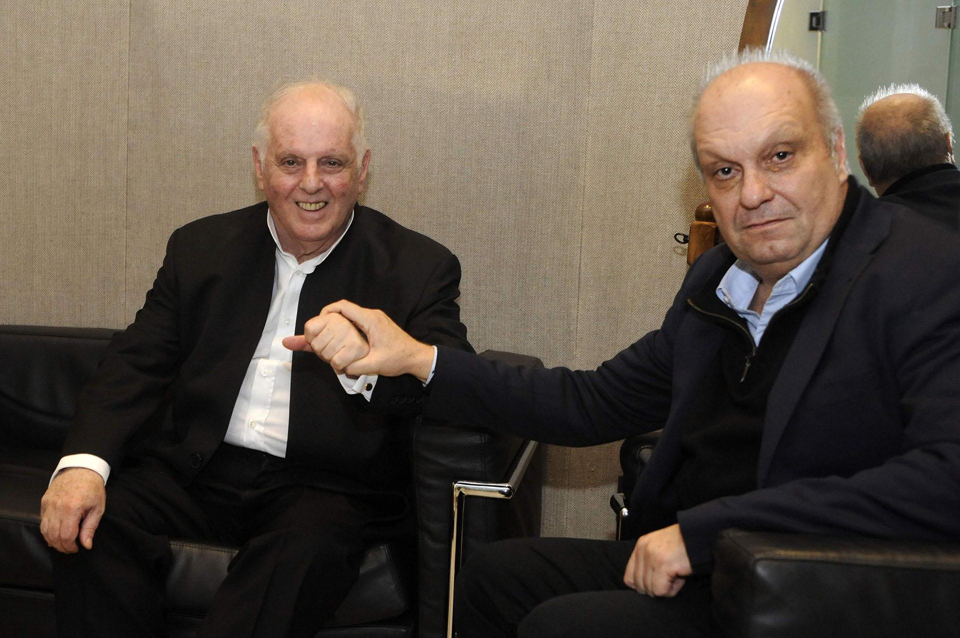 Daniel Barenboim y Hernán Lombardi, titular del Sistema Federal de Medios y Contenidos Públicos