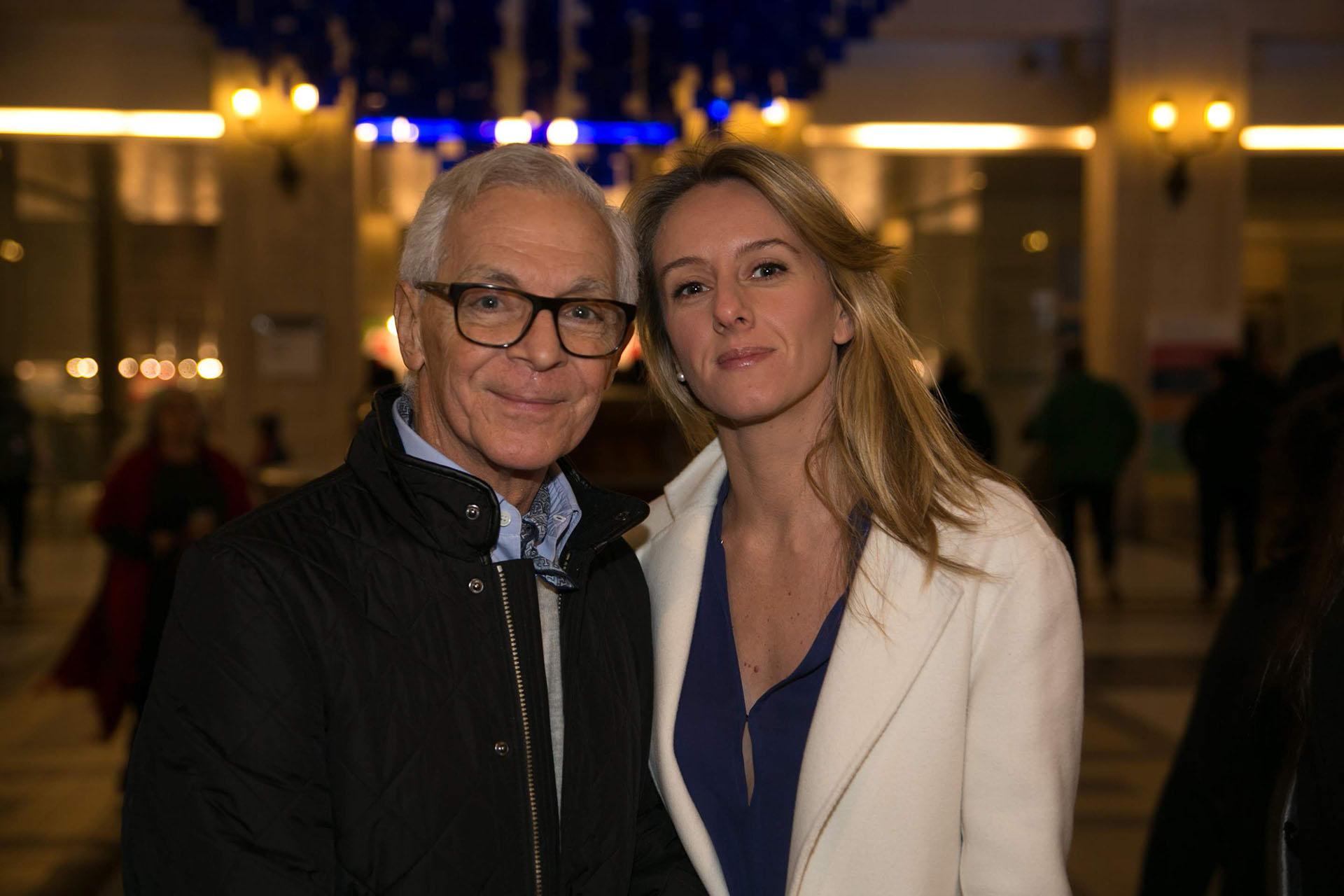El empresario Eduardo Costantini y su pareja Estefanía Daneri