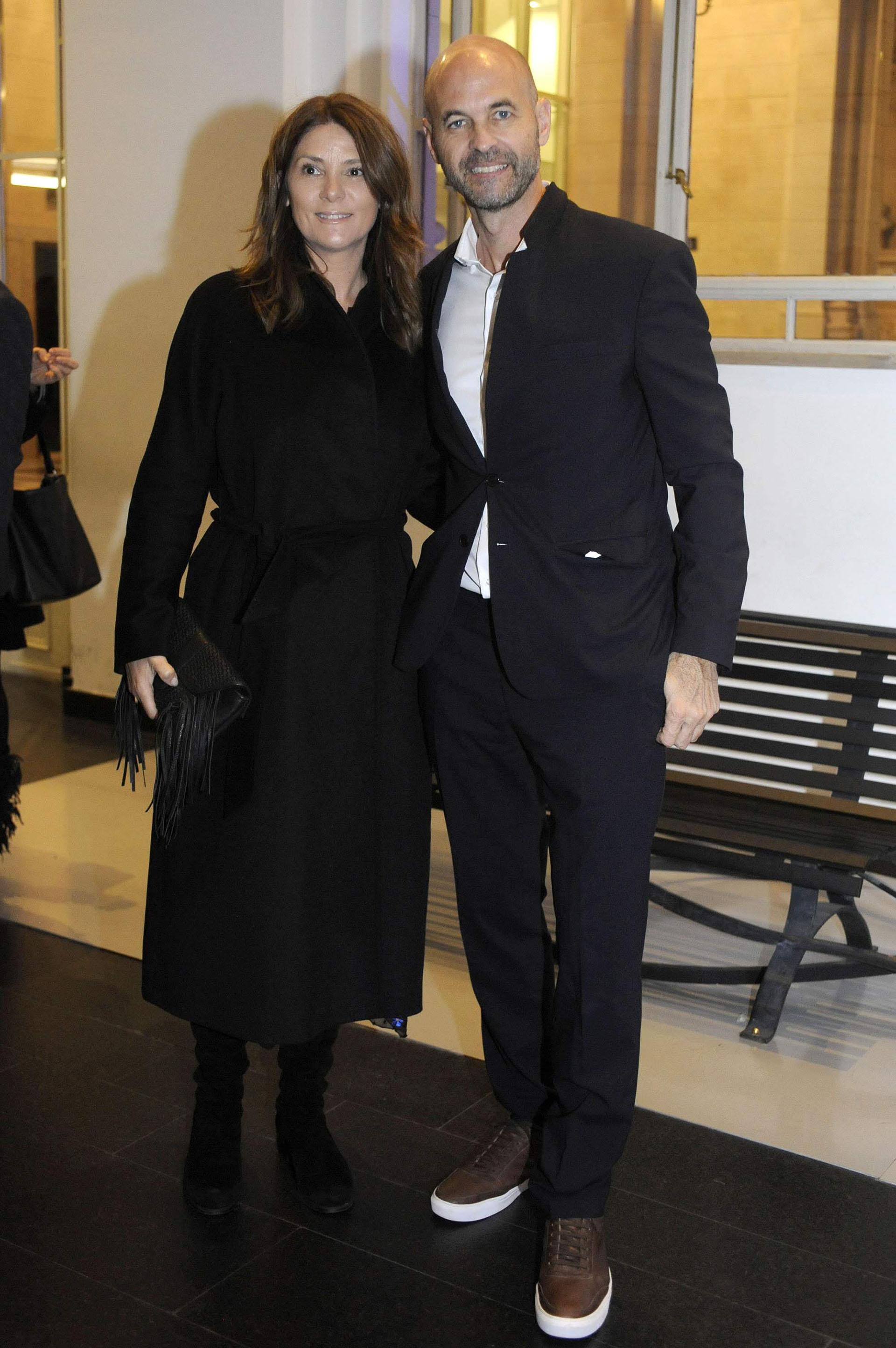 El ministro de Transporte, Guillermo Dietrich, y su mujer