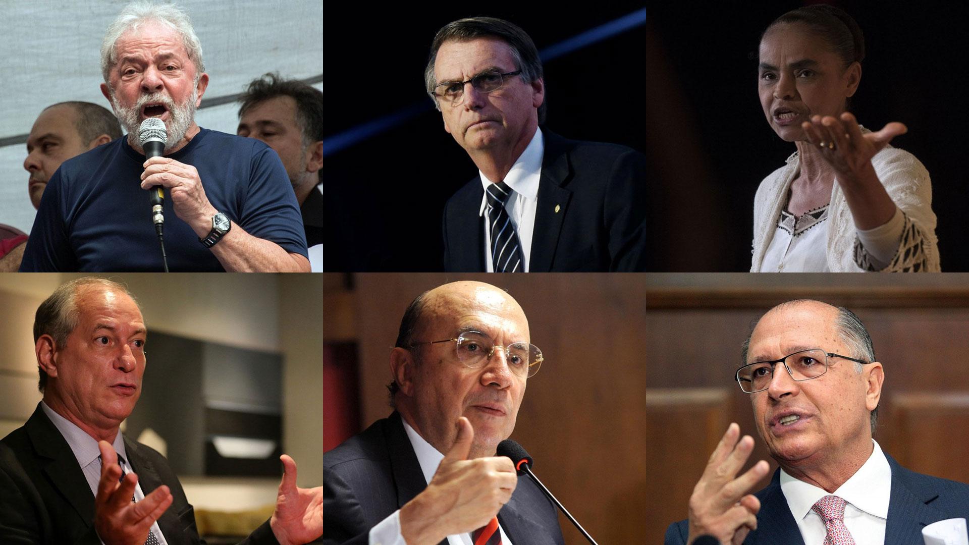 Los seis precandidatos con más chances en las próximas elecciones