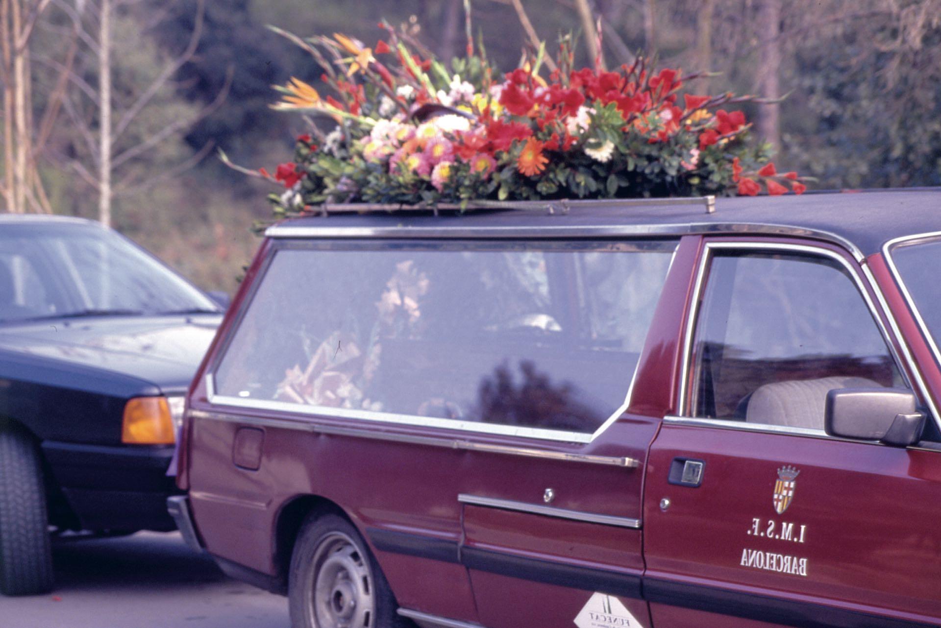 El cortejo fúnebre de Luis Rey (Foto Archivo GENTE)