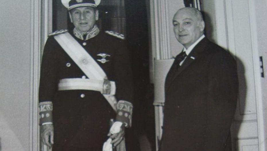 Juan Domingo Perón y José López Rega