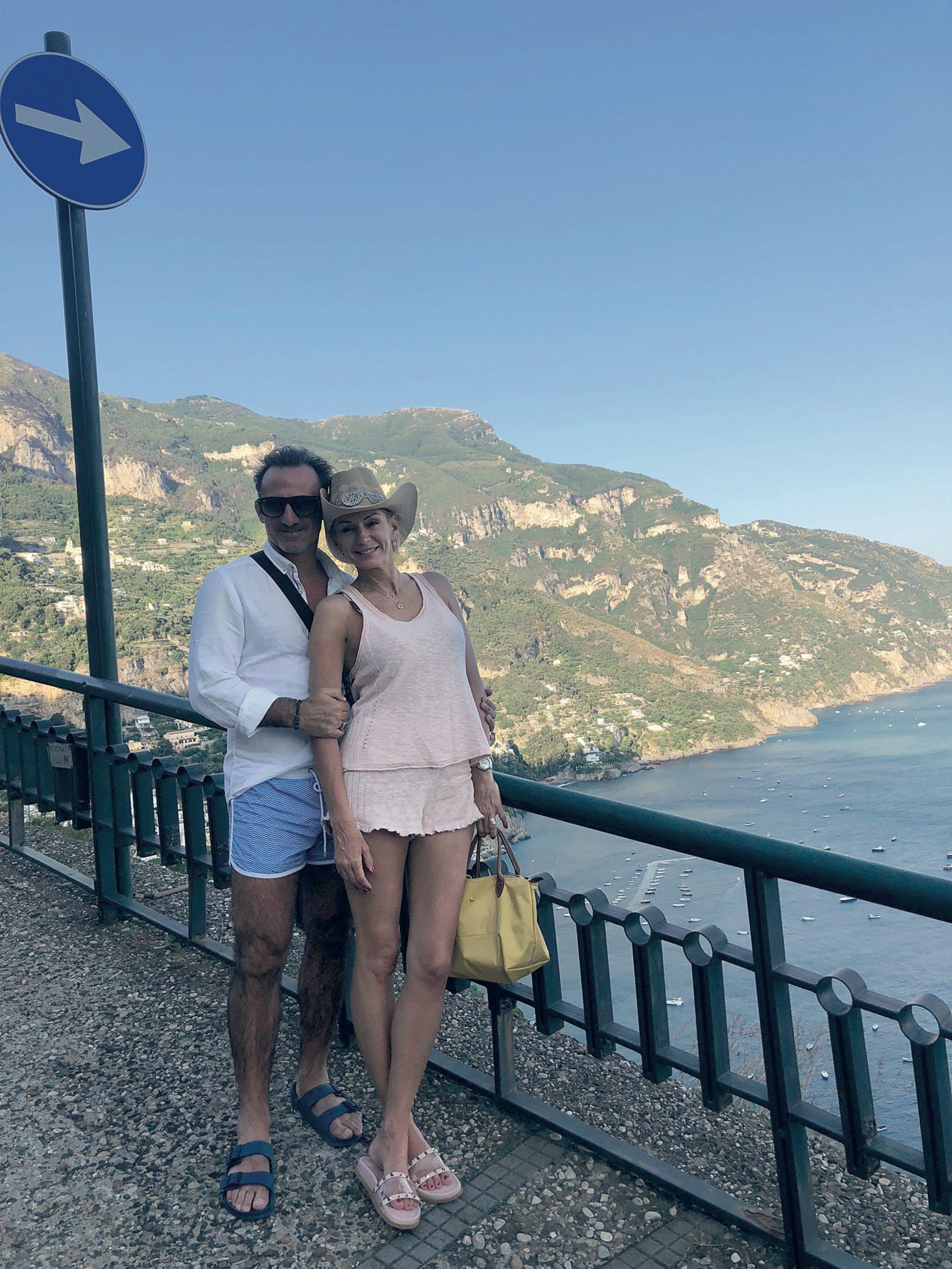 Yanina y Diego Latorre en Amalfi, Italia