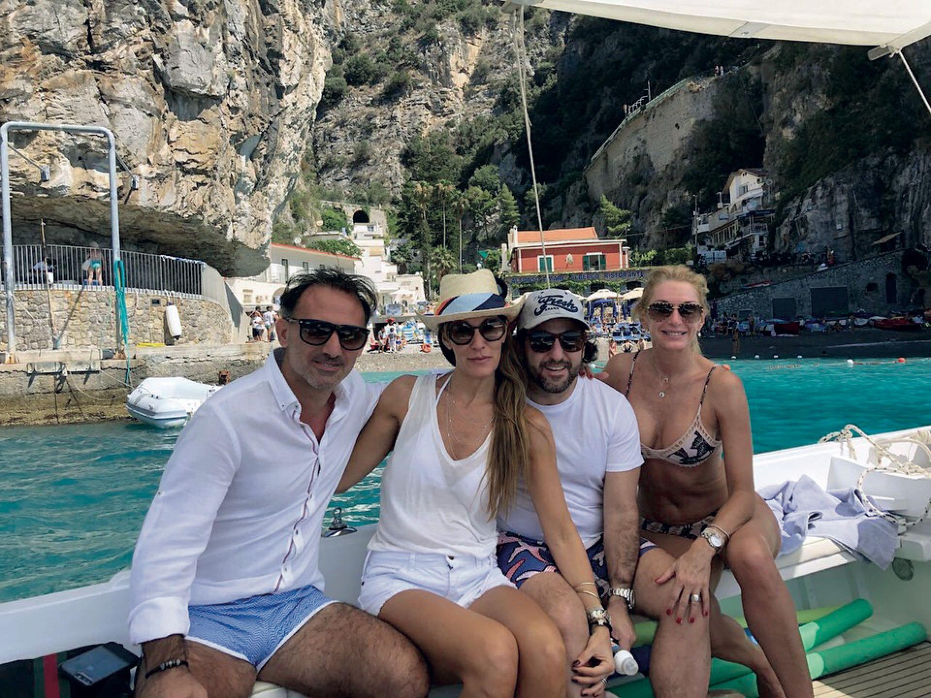 Yanina y Diego Latorre viajaron a Italia con una pareja amiga que conocieron en el colegio de su hijo.