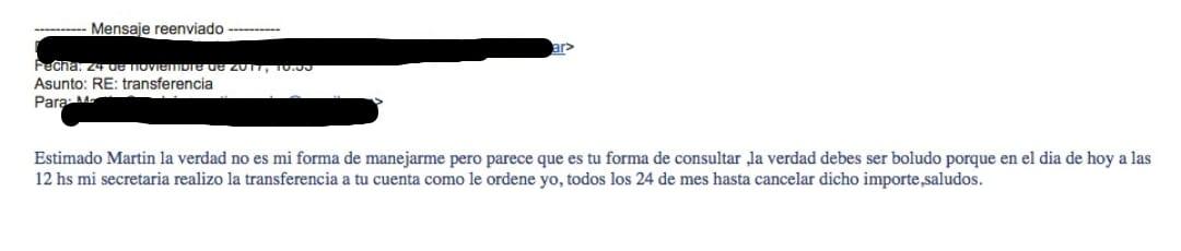 Mail del administrador