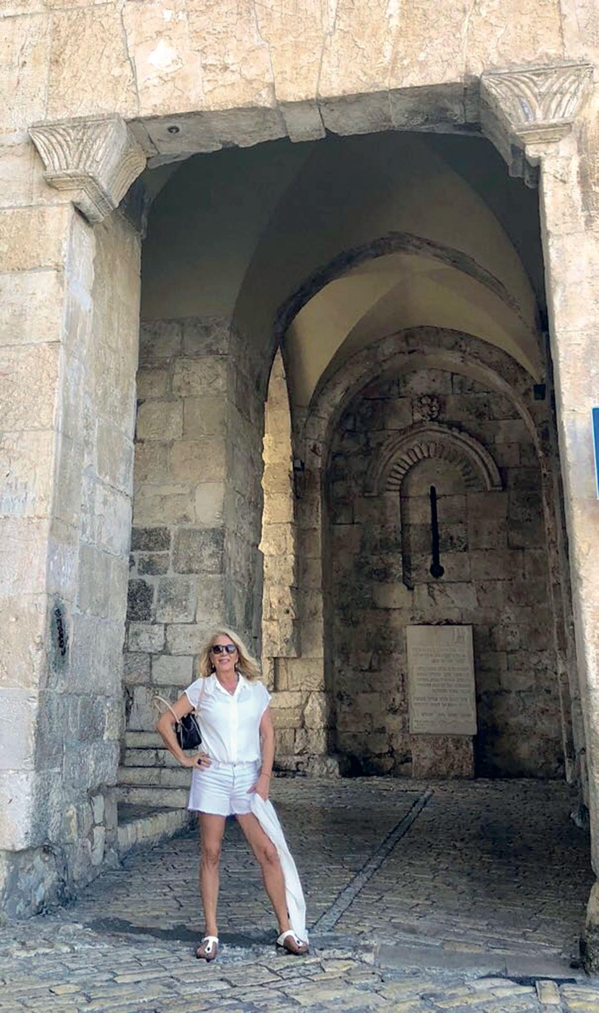 En Jerusalén, donde visitó la Puerta de Sion, una de las entradas a la antigua ciudad amurallada.