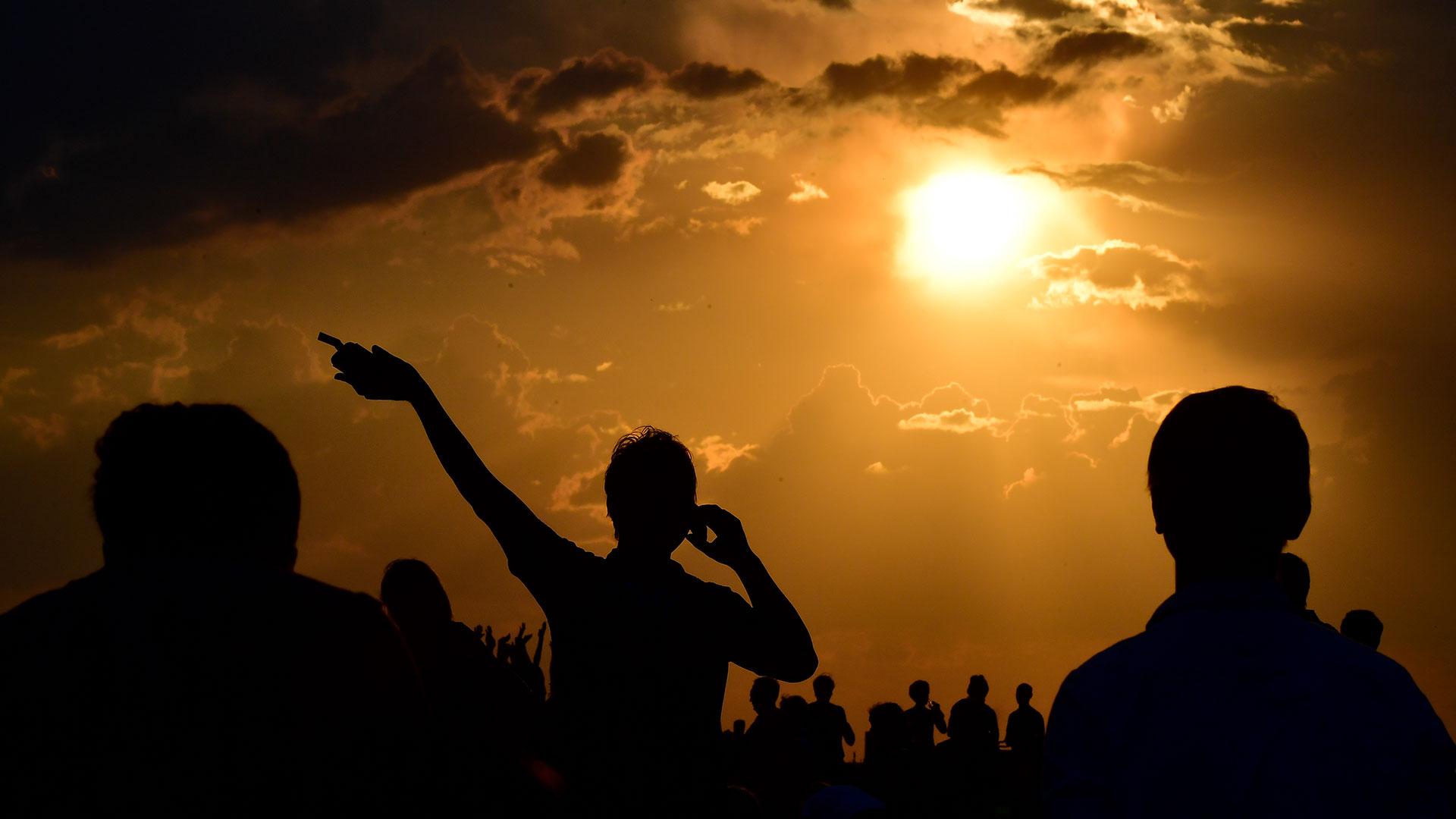 Así se vio el eclipse de este 27 de julio en Berlín (AFP)