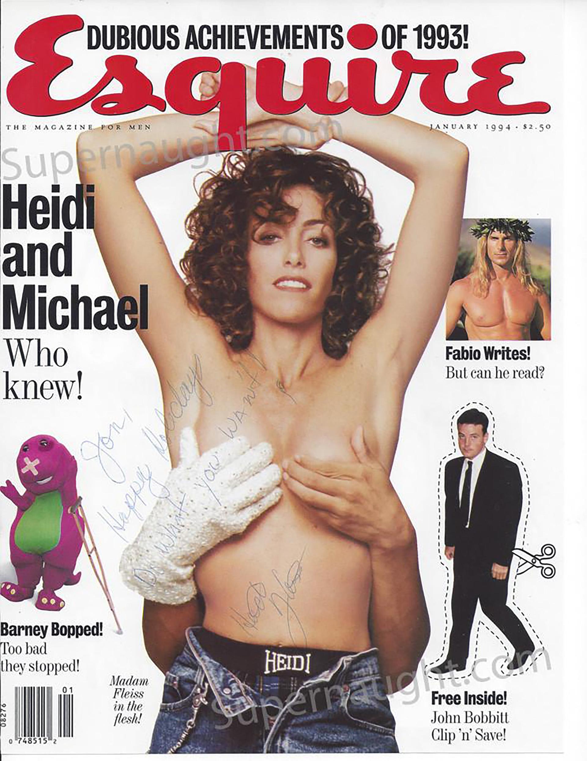 Fleiss en la portada de Esquire