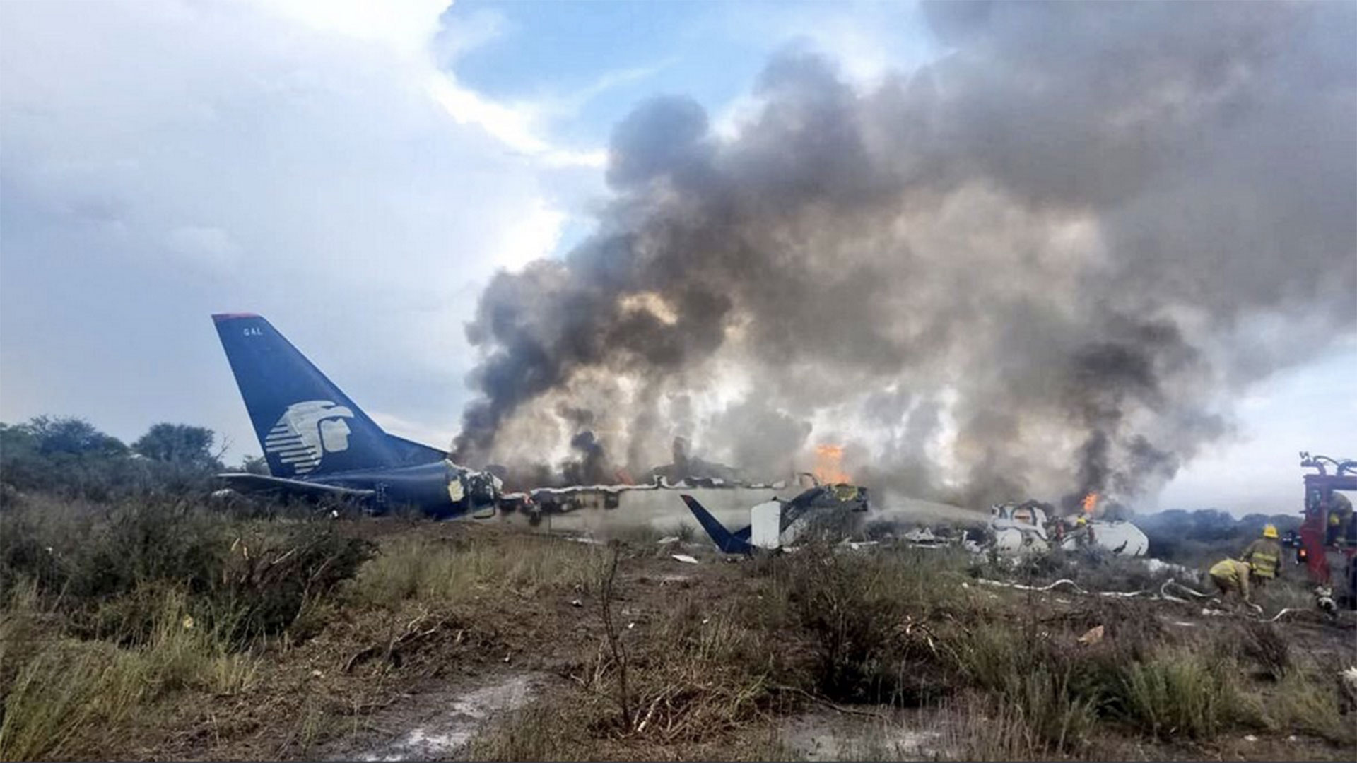 Un avión de Aeroméxico con 99 pasajeros y cuatro tripulantes se estrelló el 31 de julio sin dejar víctimas fatales (EFE)