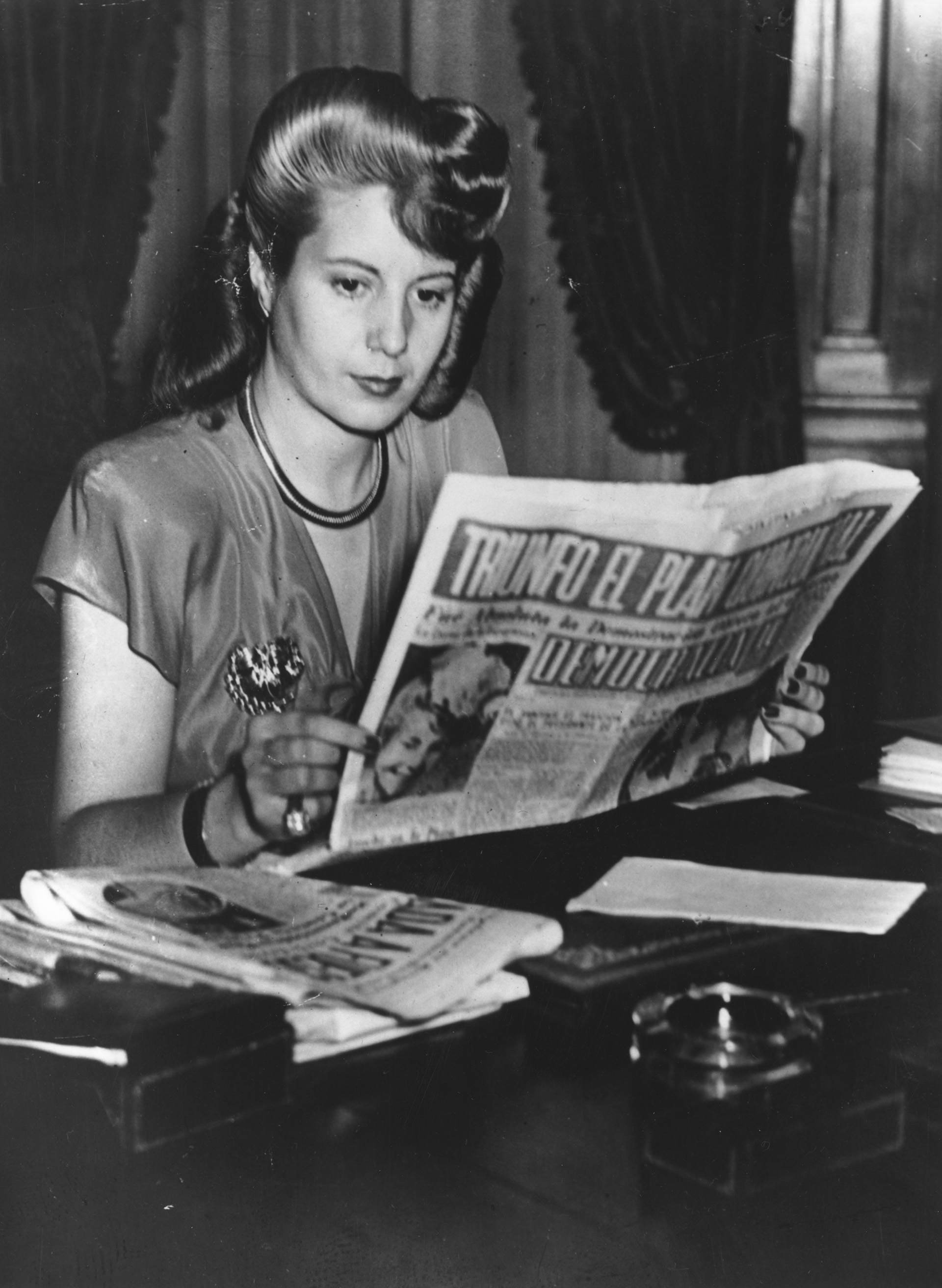 Eva Perón, en abril 1947 (Photo by Keystone/Getty Images)
