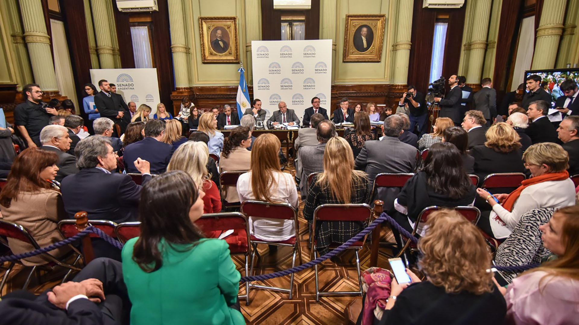 Una de las últimas audiencias en Senado argentino previa a la votación (Guille Llamos)