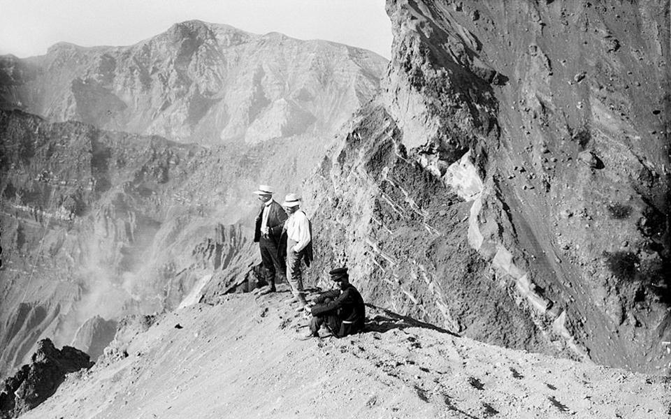 Kakkalos, Boissonnas y Baud Bovy en el monte (Museo de la fotografía de Tesalónica)
