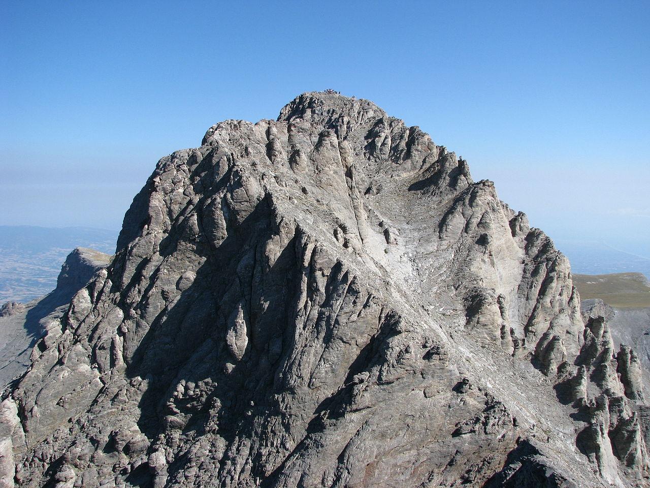 Mytikas, el pico más alto del monte