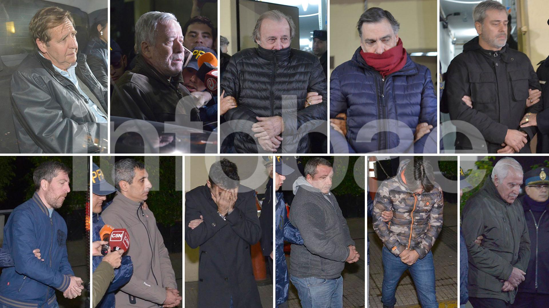 Los detenidos por el caso que esta mañana fueron llevados a Comodoro Py