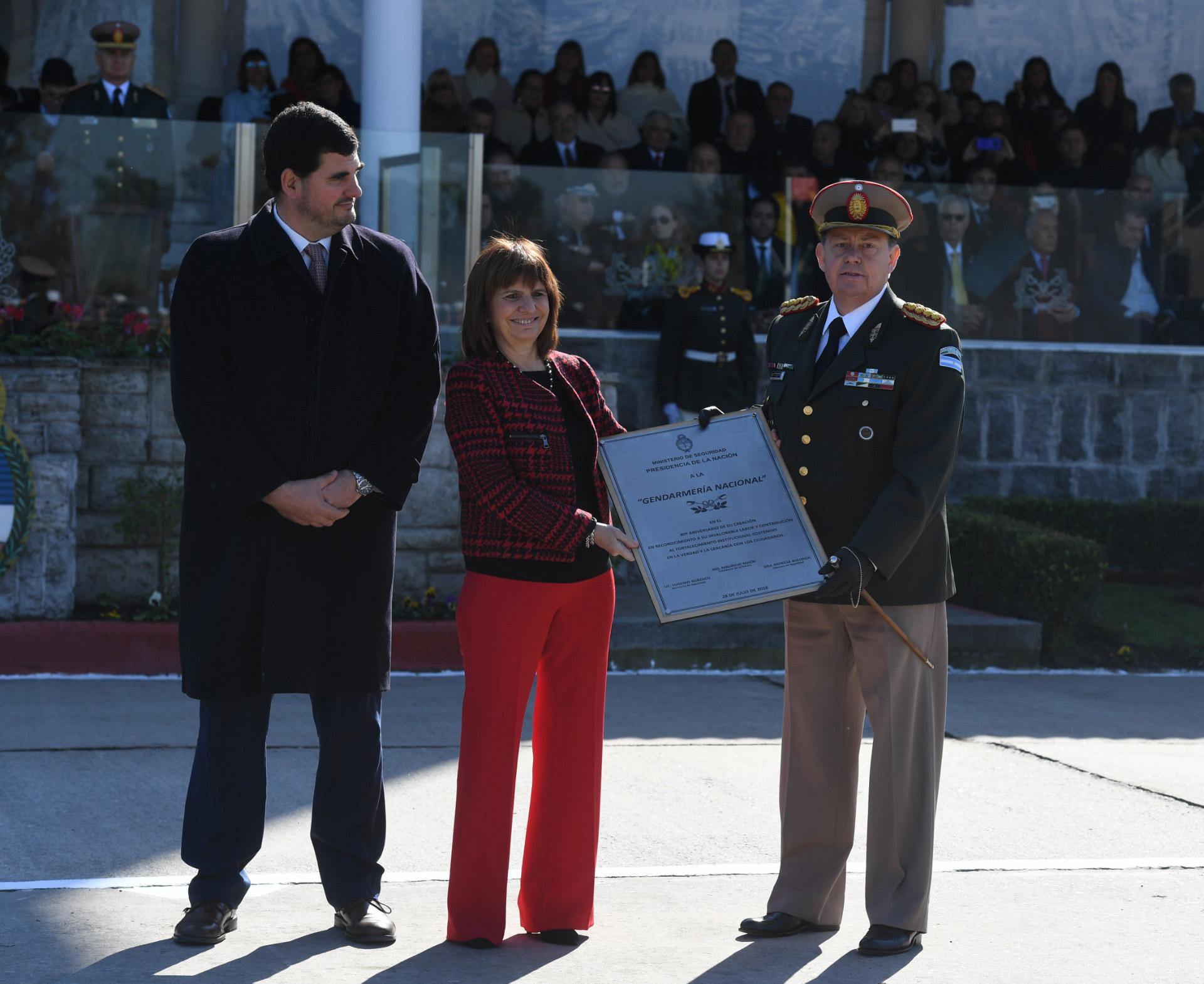 El secretario de Seguridad, Eugenio Burzaco, acompañó a la ministra Bullrich en la ceremonia