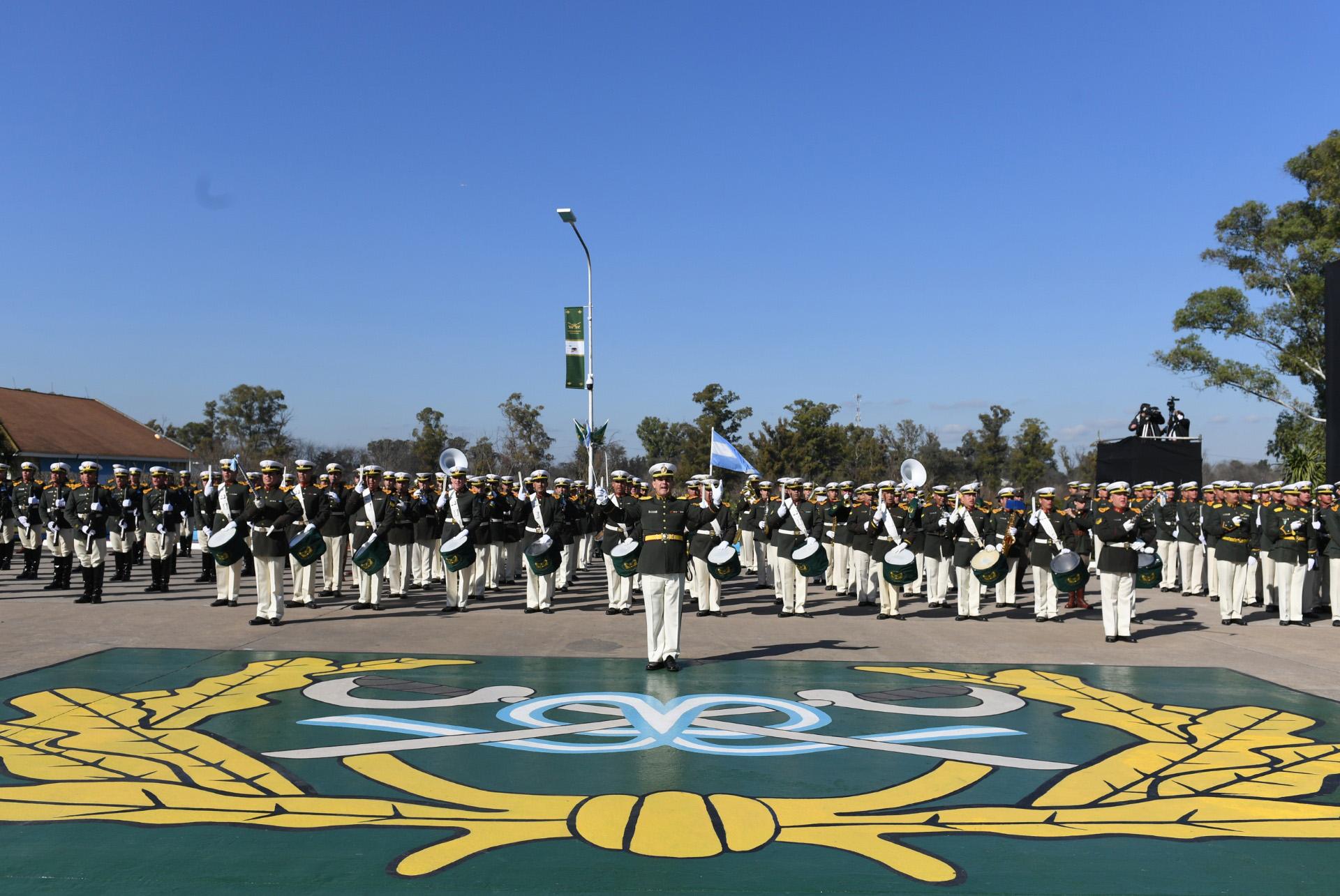 Para esta ocasión, la banda especial de la Gendarmería fue conformada integrantes de la escuela Martín de Güemes, del instituto Juan Adolfo Romero, y la banda del Comando de Región I