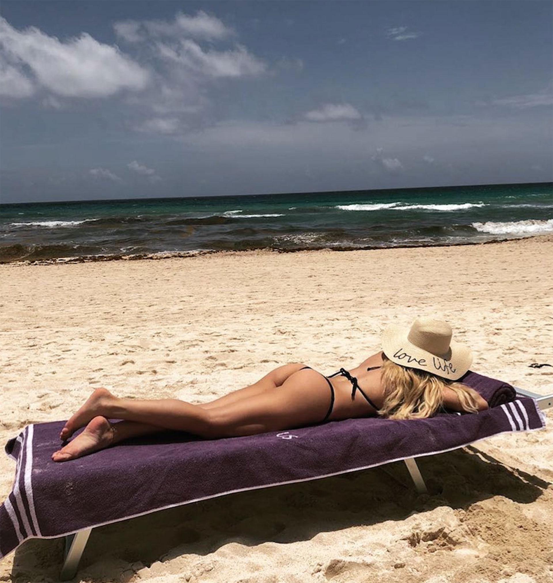 """Tras finalizar una temporada del espectáculo """"Sugar"""", Laurita Fernández se fue de vacaciones a Cancún. A su regreso debutará como jurado del """"Bailando"""" (Instagram)"""