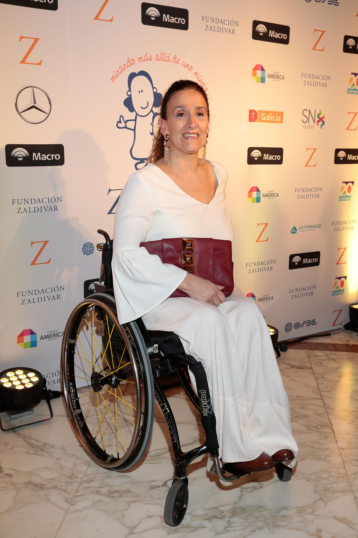 La Vicepresidente, Gabriela Michetti, a su llegada a la gala de la Fundación Zaldivar