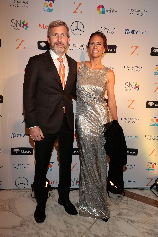 El ministro de Interior, Rogelio Frigerio, y su mujer Victoria Costoya