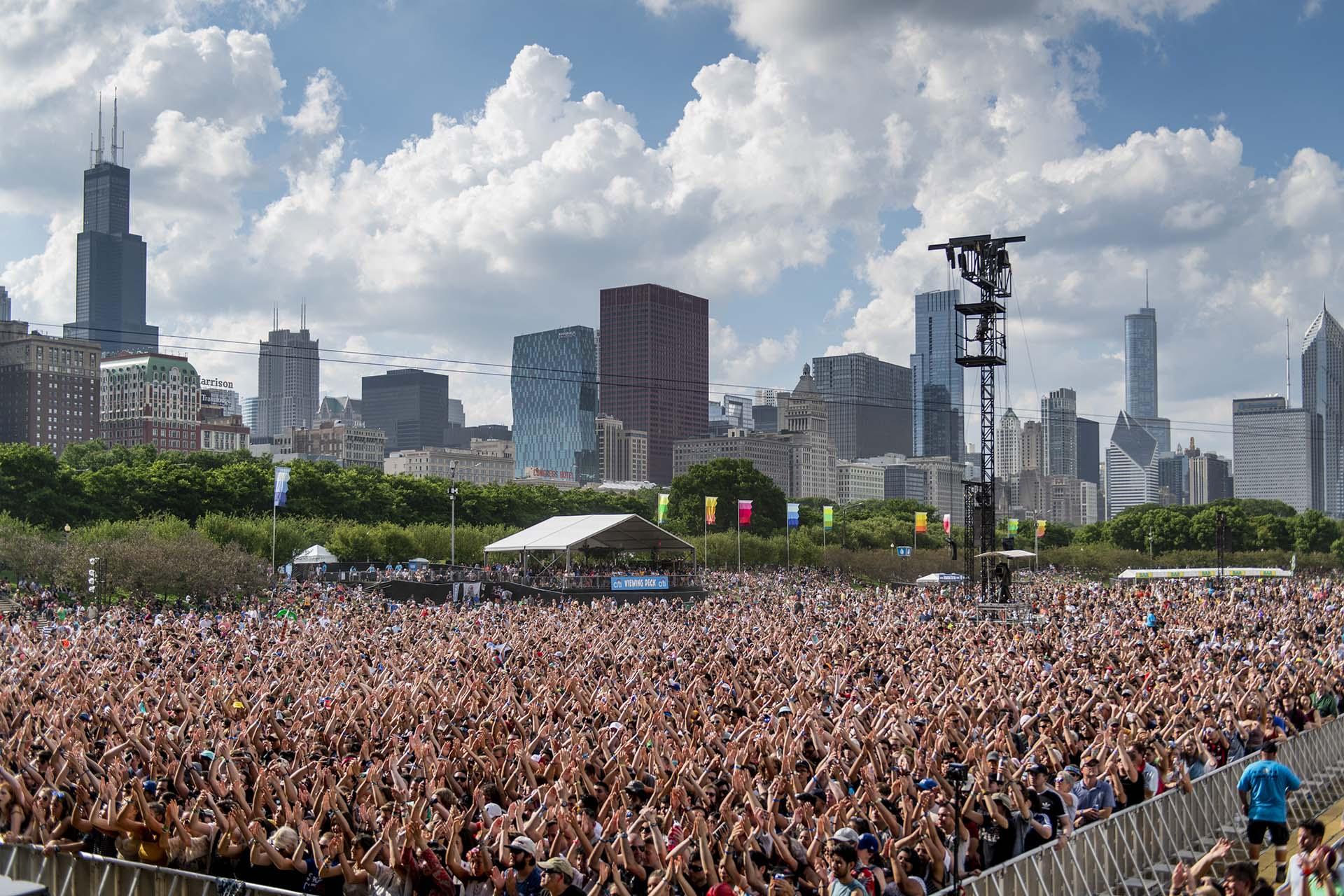 El skyline de Chicago es un marco ideal para el festival.