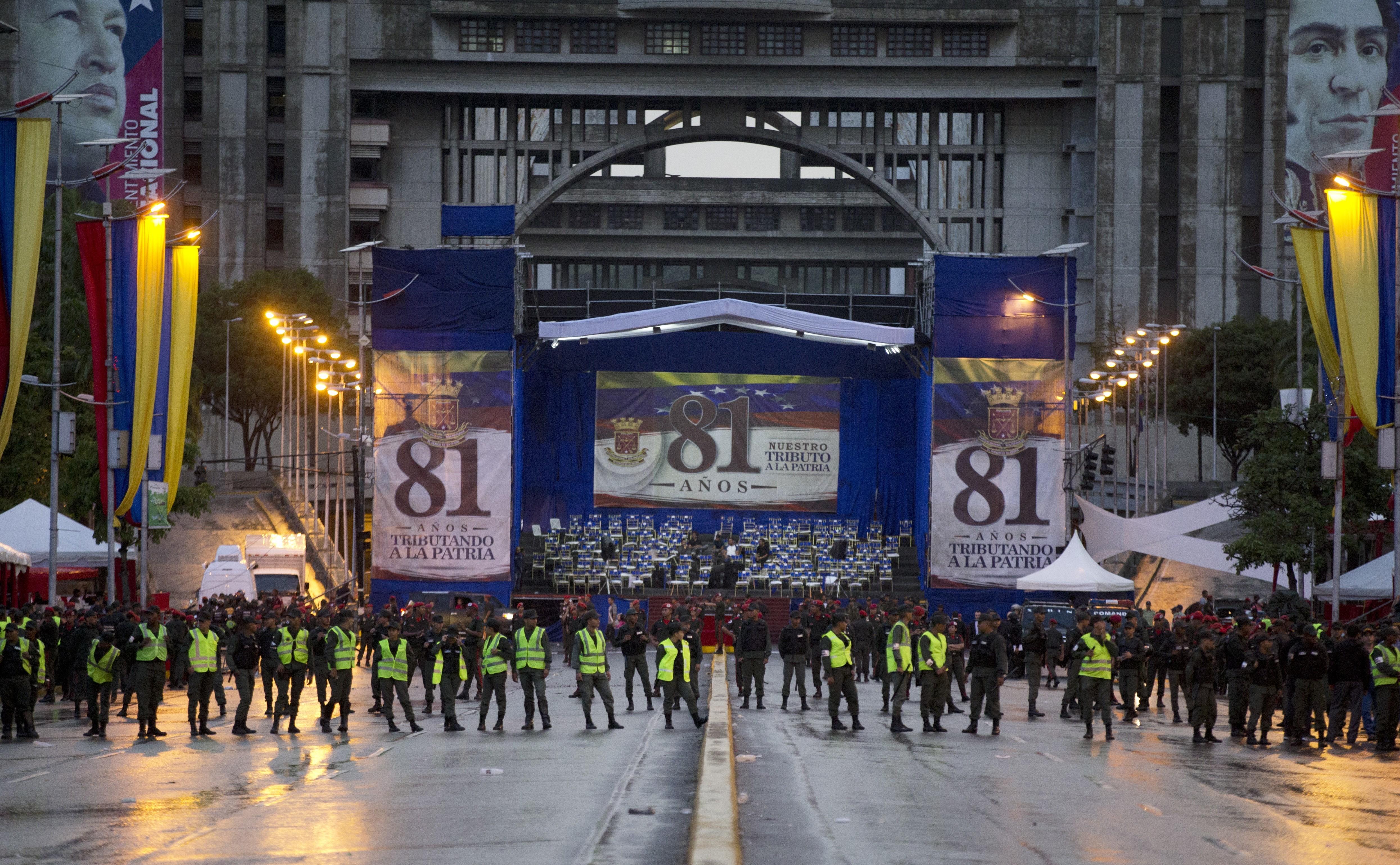 Oficiales de la GNB ocuparon la avenida Simón Bolívar tras los incidentes