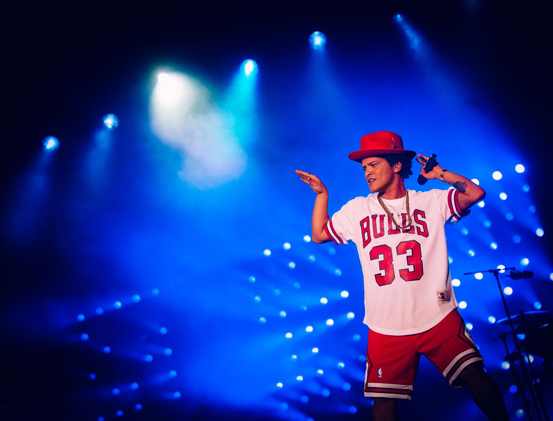 Bruno Mars: uno de los momentos más altos del Lollapalooza Chicago 2018.