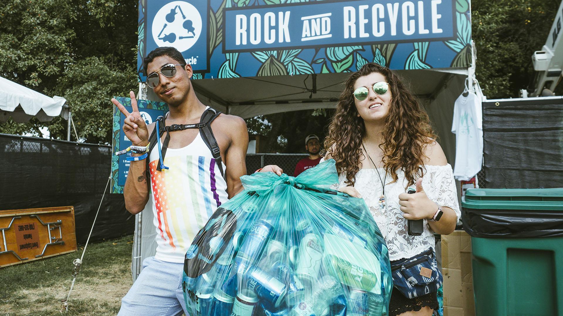 La conciencia ambiental estuvo presente durante todo el festival.