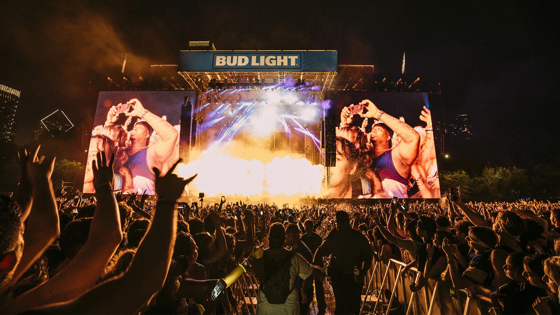 Locura en el escenario Bud Light.