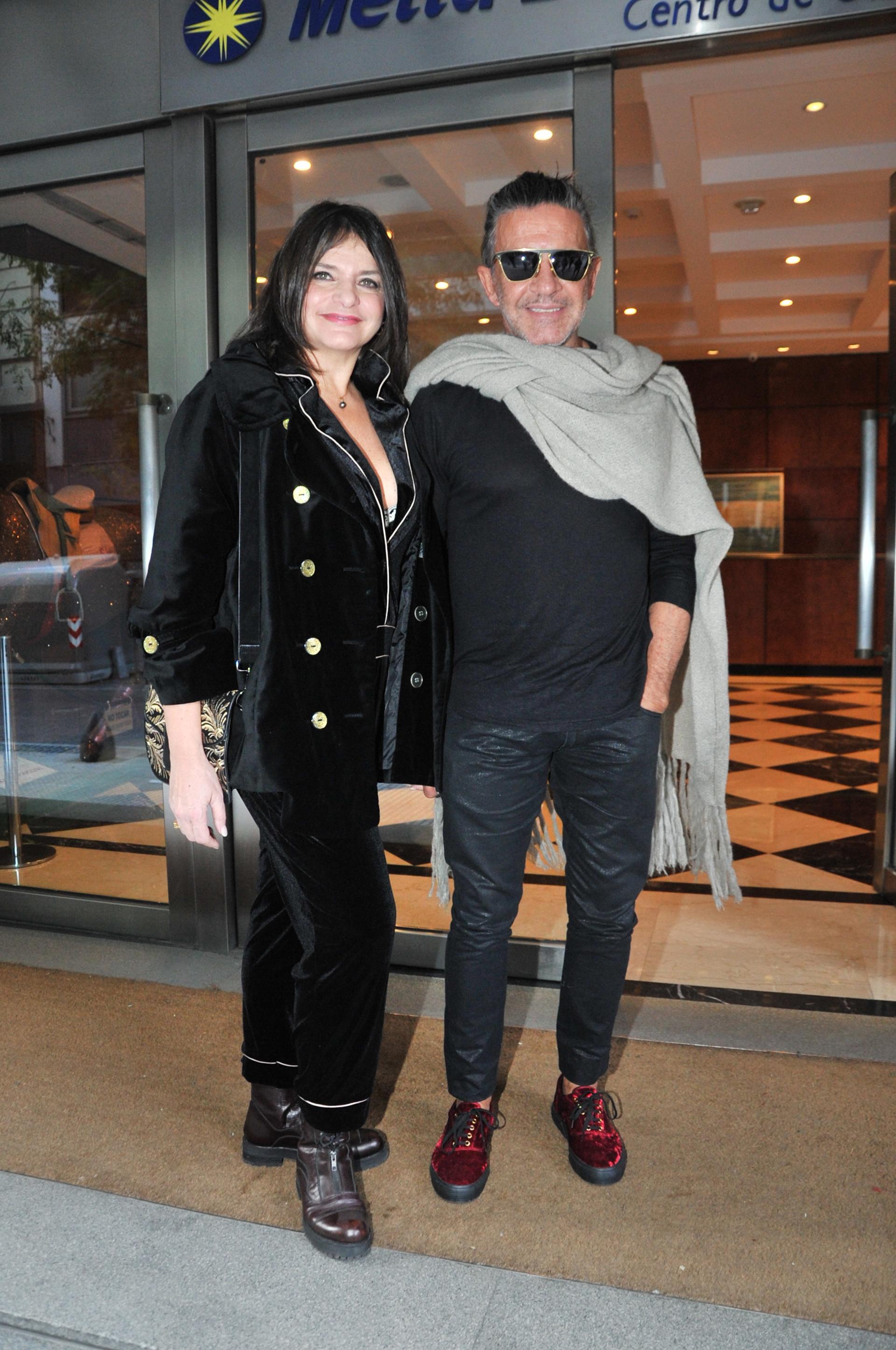 Osvaldo Laport y su mujer, Viviana Sáez
