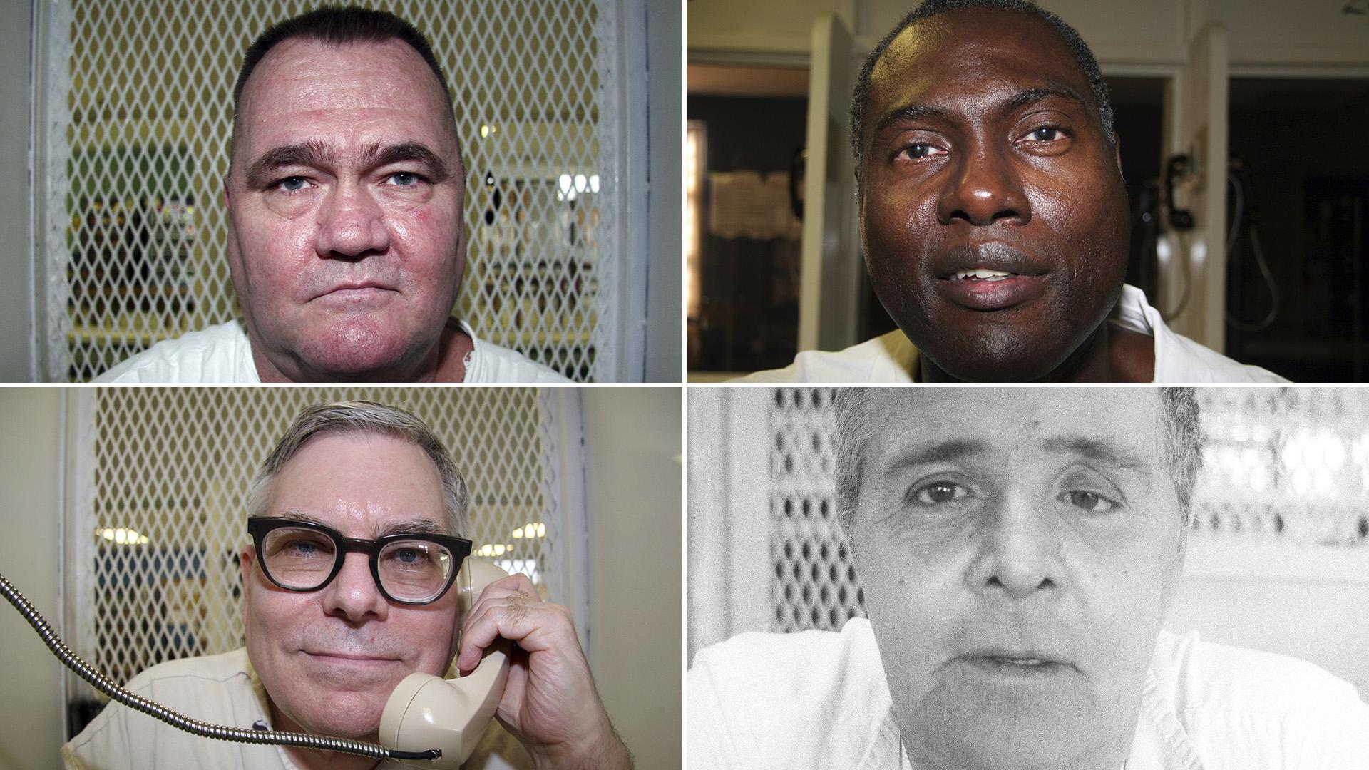 Retratos que Graczyk tomó de condenados a muerte, durante sus entrevistas antes de la pena capital (AP)