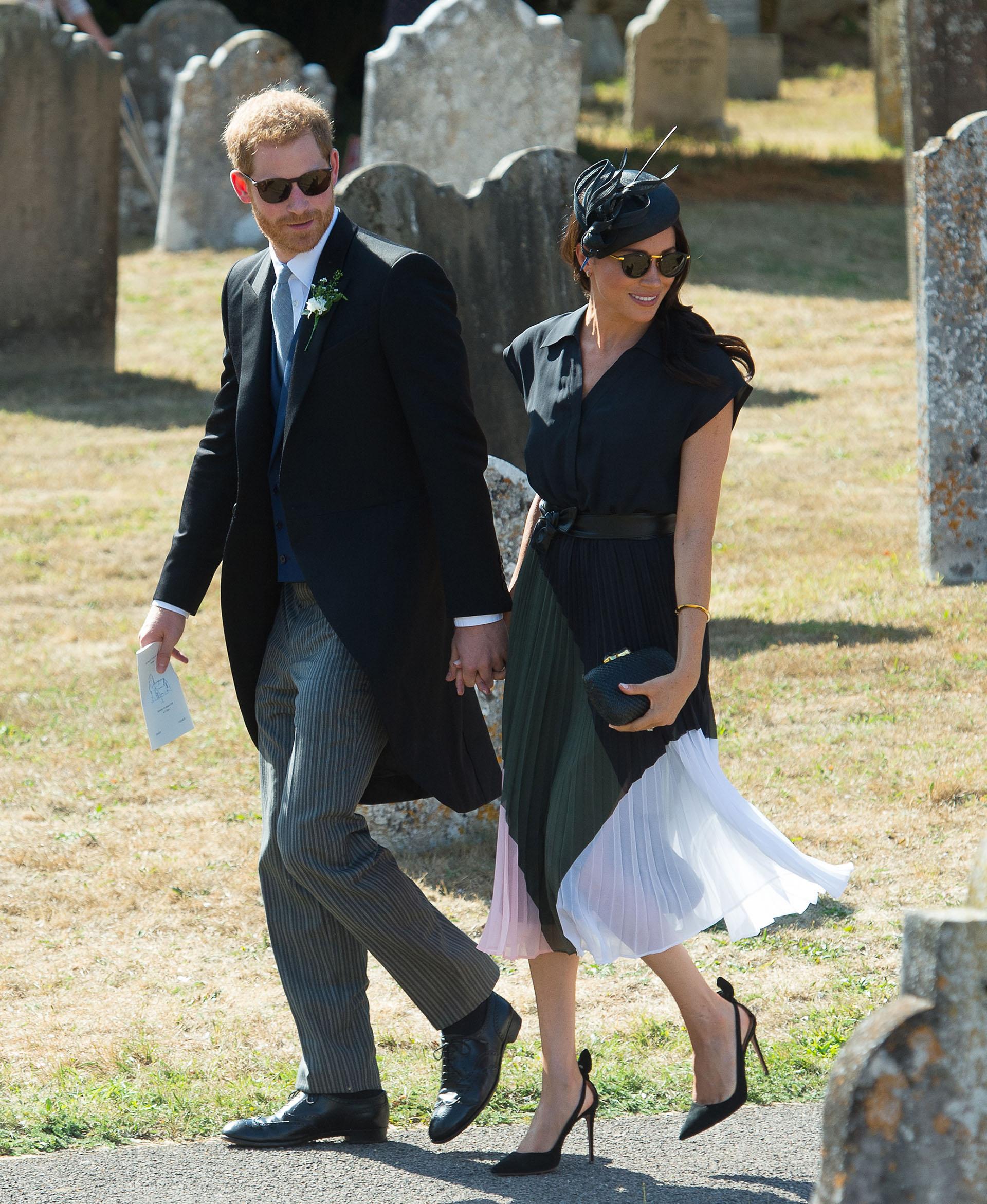 Priíncipe Harry y Meghan Markle asistieron a la boda de Charlie Van Straubenzee y Daisy Jenks (Grosby)