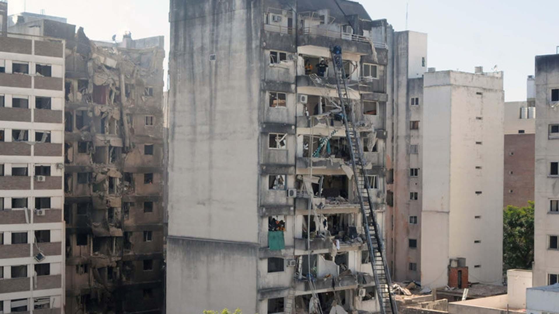 Las consecuencias de la explosión (foto Télam)